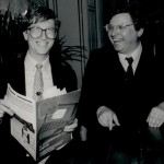 a younger Bill Gates and me