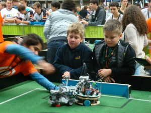 Two young German with there robotplayer