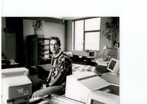 Peter Baak nog geen veranderd (computers verraden de tijd, eind jaren '80) .