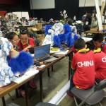 het Chinese team voor het onderdeel Dance