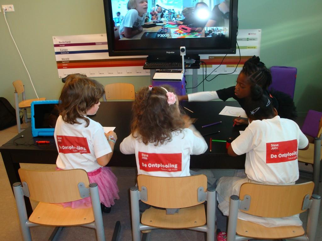 leerlingen van een Ipad-school