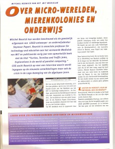 Interview met Mitchel Resnick in het MIT media-lab (1997)