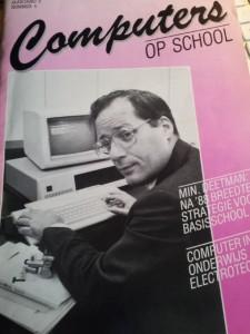 Onderwijsminister Wim Deetman in 1987